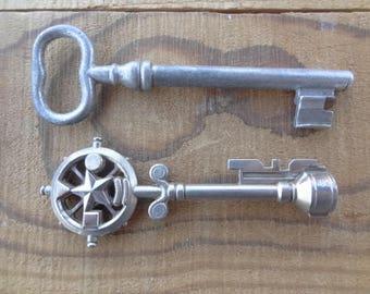 Large Skeleton Keys - Aluminum Skeleton Key - Reproduction Skeleton Keys- Ornate - Escutcheon Supply - D244