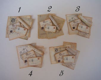 18th Century Mail/Folded Letter Set/Vintage Mail Various styles 1/12 Scale