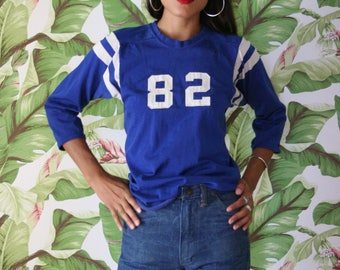 Vintage Sports Shirt / Spaulding Athletic Wear / Unisex / Blue Jersey