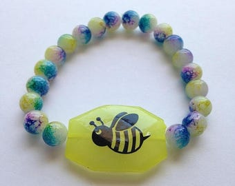 BIG Clearance Sale Choose DIY Kit or Ready Made Bumble Bee Bead Stretch Bracelet