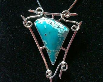 Fox Mine Turquoise Pendant