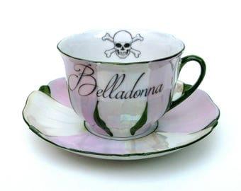 Belladonna Poison Teacup and Saucer