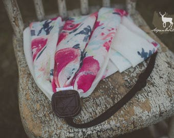 Watercolor Floral Scarf Camera Strap