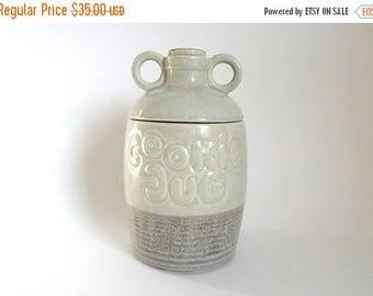 SALE - Vintage 1970's McCoy Pottery Gray Ceramic Cookie Jug Cookie Jar