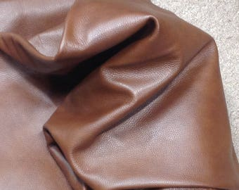6-892.  Rich Brown Leather Cowhide Partials