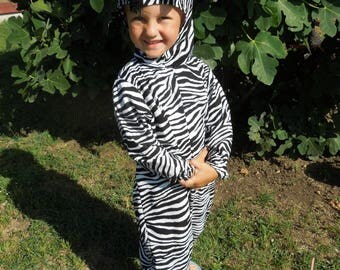 Zebra Costume in Cotton for Infant, Toddler & Child
