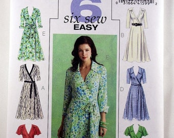 ON SALE Butterick 5030, Misses' Wrapped Dress Sewing Pattern, Easy Dress Sewing Pattern, Easy Dress Pattern, Misses' Size 8, 10, 12, 14, Unc