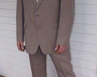 Beige Mens Suit Botany 44 38 Waist