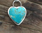 Reserved for Lee - Genuine Turquoise Heart Necklace, Southwestern Necklace, Turquoise Necklace