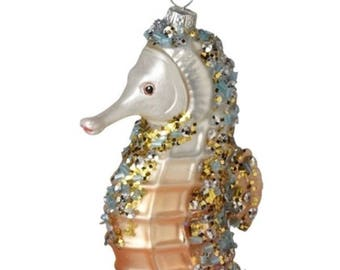 Seahorse Blown Glass Ornament
