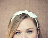 Butter Yellow Bow Headband for April