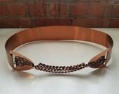 vintahe 50s 60s copper belt waist cincher mid century