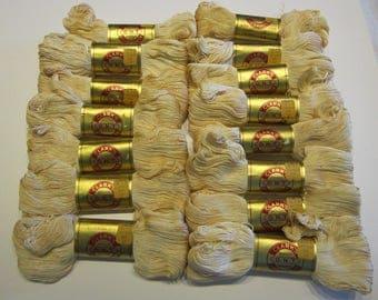 15 skeins vintage Clark's O.N.T. Lustersheen mercerized bedspread cotton- color 42