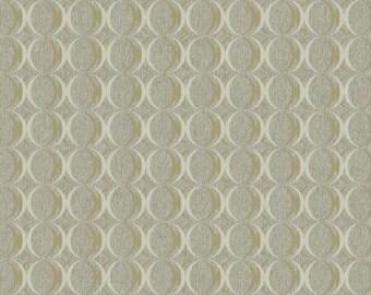 RC3752 Taupe Metallic Gold Circles Contemporary Geometric Wallpaper