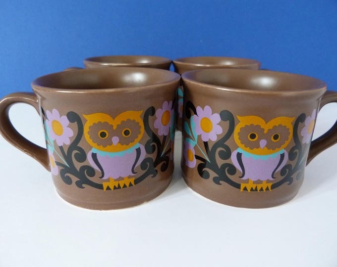 1970's Owl mugs Sadler