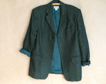 SALE! vintage 90's ESPRIT jacket / blazer / womens / oversized baggy fit / back to school chic / plaid sports coat / 90's streetwear