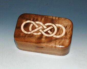 Maple Inlay Double Infinity Walnut Handmade Wooden Box - Wood Box, Small Wooden Box, Revenge Box, Small Wood Box, Small Jewelry Box, Boxes
