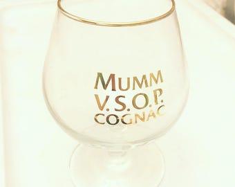 Set of 12 Vintage Mumm VSOP Cognac Sniffer Glasses - Original Box - Unused