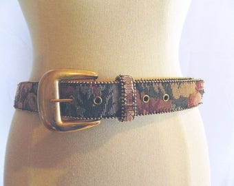 Tapestry Leather Belt