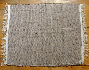 Hand-Woven Cotton/Cotton-Poly Rag Rug-Chocolate Browns-Swedish Rugs