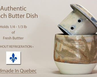 French Butter Dish, Ceramic Butter Dish With Lid, Soft Butter Keeper, French Butter Keeper, Beurrier Breton, Butter Crock