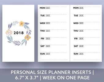 """Personal Size Planner Inserts 