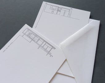 Classic Modern Architecture Boxed Notecards