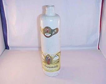 Stoneware Wine Bottle 1967 Liebfraumilch White Glazing