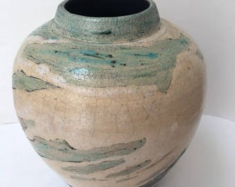 Taylor Studio Pottery Vase Natural Interiors Ginger Jar Glazed and Textural