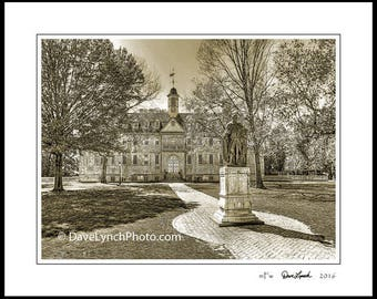 Williamsburg VA Virginia - William & Mary College - Wren Building - Black and White - Color - Vintage Sepia - Art Photo Prints by Dave Lynch