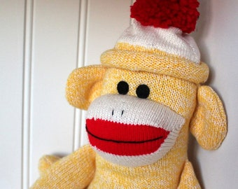 Yellow Sock Monkey - Traditional Rockford Red Heel Socks