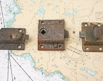 Vintage Hardware  /  Door Locks  /  Lock Mechanism  /  Cabinet Locks  /  Window Locks  /  Front Door Lock  /  Repurpose Hardware