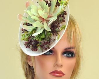Fascinator Hat, Kentucky Derby Fascinator, Derby hat, Ascot Hat, Saucer Hat, Percher Headpiece
