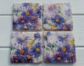 Water Colour Style Floral Coaster Set of 4 Tea Coffee Beer Coasters