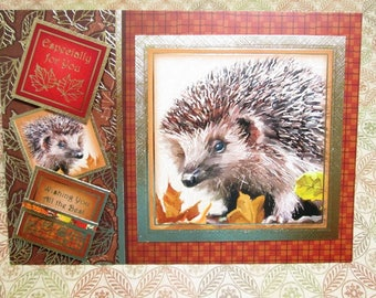 Handmade Fall Card - Thoughts of Autumn Hedgehog Especially For You and Wishing You All the Best