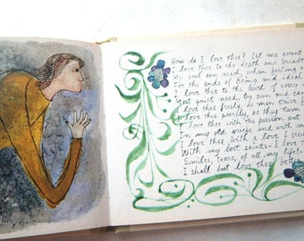 1964 Love Sonnets Poetry Book illustrated by Ben Shahn