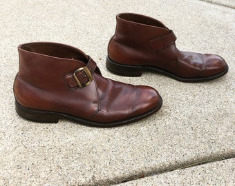 Vintage Allen Edmonds Handcrafted Brown Buckle Shoes  leather soles  10b