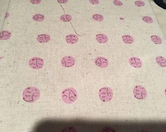 Heather Ross Kokka Far Far Away 2 Moon pink FQ +