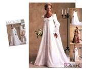 Victorian Wedding Dress Pattern Bridal Gown Pattern Wedding Gown Pattern Misses Size 10 12 14 McCall's 2645 Sewing Pattern Empire Bodice