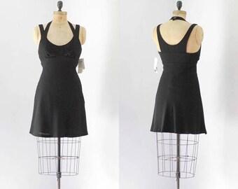 40% OFF SALE - Vintage 1990's Designer Nicole Miller Halter Dress