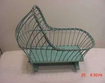 Antique Wicker Baby Bed