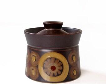 Vintage Denby Arabesque Langley Samarkand Brown Sugar Bowl