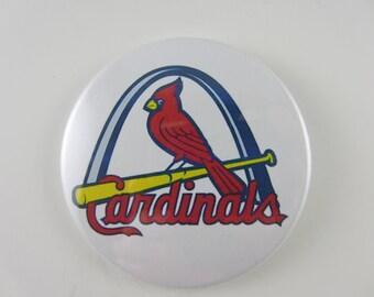 St. Louis Cardinals Baseball, Cardinals Buttons, Pin Back Buttons, St. Louis Cardinals Pins, Magnets, Mirrors