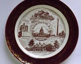Vintage Washington DC  Keepsake Plate