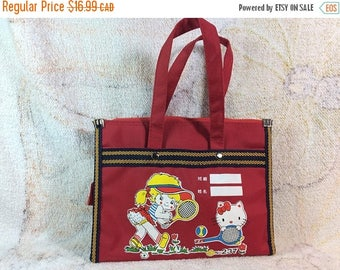 15% OFF Vintage 1990s Hello Kitty Kids Purse or Lunch Bag Retro Cute Adorable