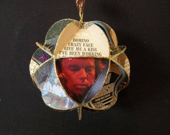 Van Morrison Album Cover Ornament Made From Record Jackets
