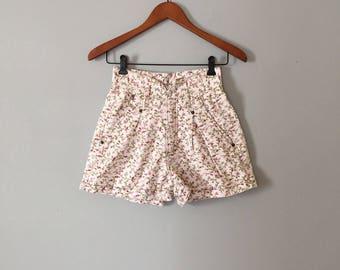 botanical tap shorts | high waisted yoked waist mini shorts