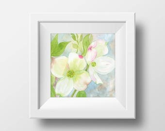 Dogwood Print from Original Watercolor