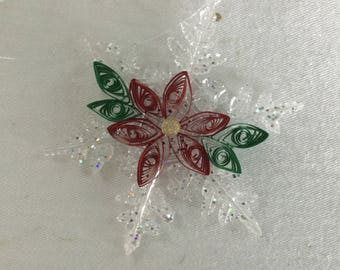 Quilled Poinsettia Ornament
