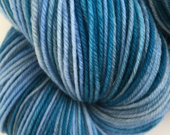 Blue Gray Ocean Sock Yarn